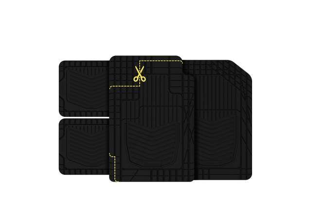 Michelin All Weather Universal Floor Mats 4PC - Black