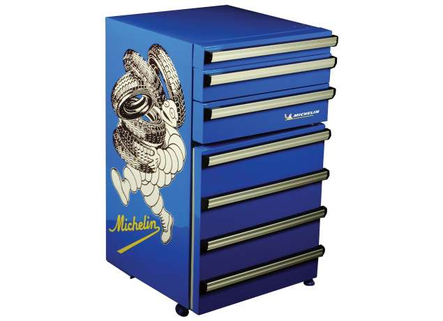 MICHELIN® Tool Chest Compact Fridge, 1.8 Cubic Foot, Blue